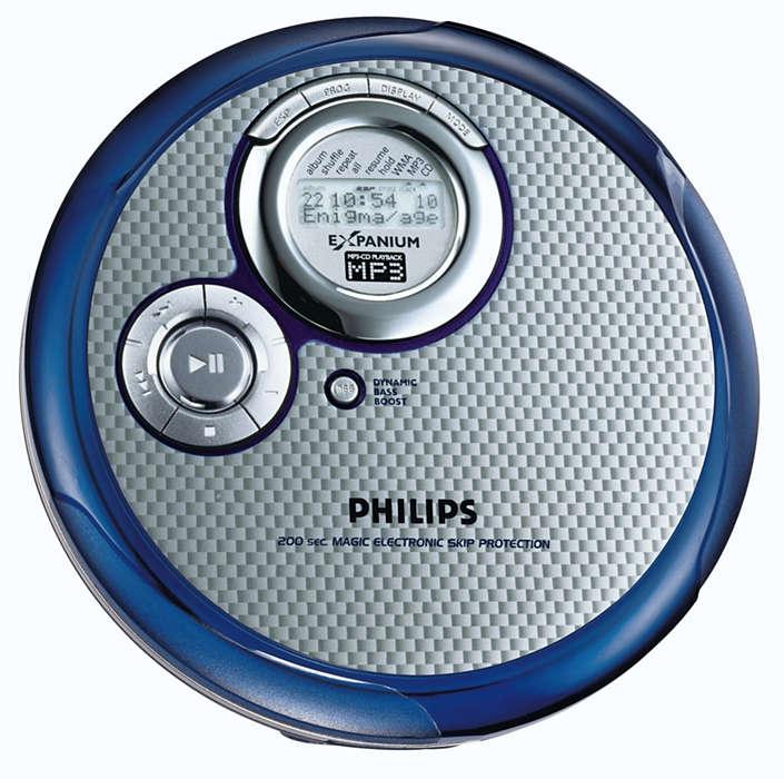 Reproductor MP3-CD Ultrafino