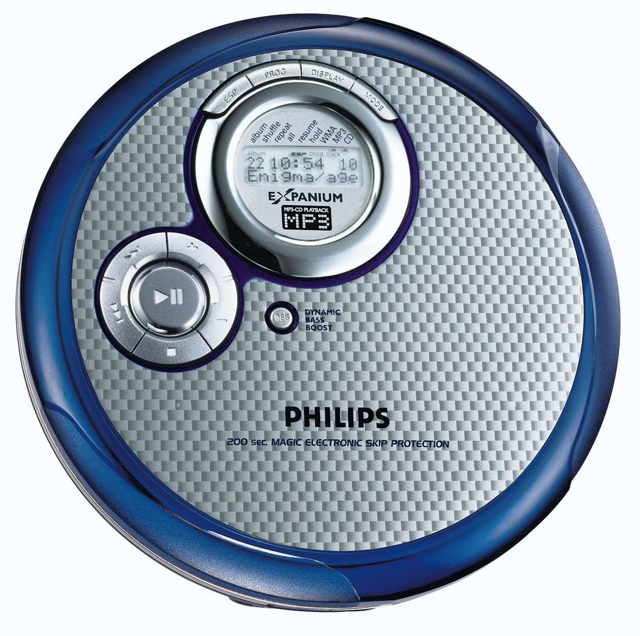 Leitor de CD MP3 elegante
