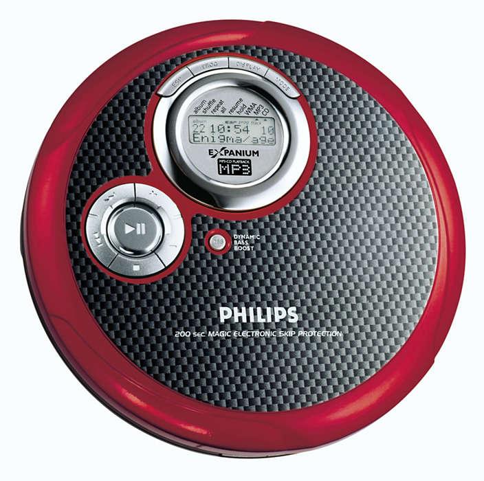 Tenký přehrávač MP3-CD