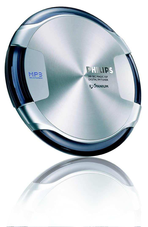MP3-CD player subţire