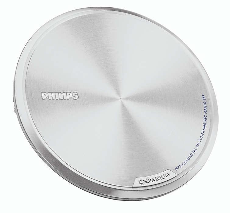 Roppant kis méretű és pihekönnyű MP3-CD-lejátszó