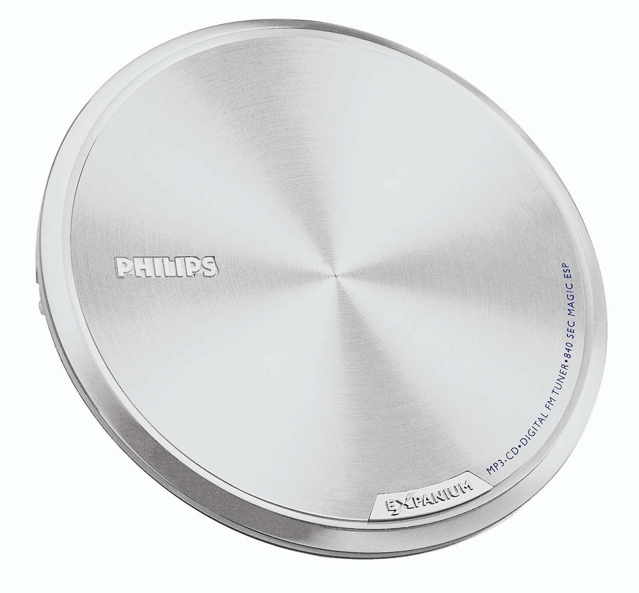 Superslank og ultralett MP3-CD-spiller