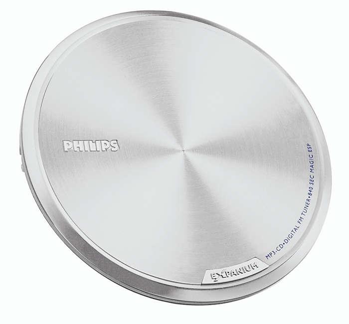 Supertunn och ultralätt MP3-CD-spelare