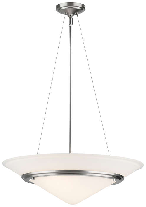 Regatta II 2-light Pendant in Satin Nickel finish