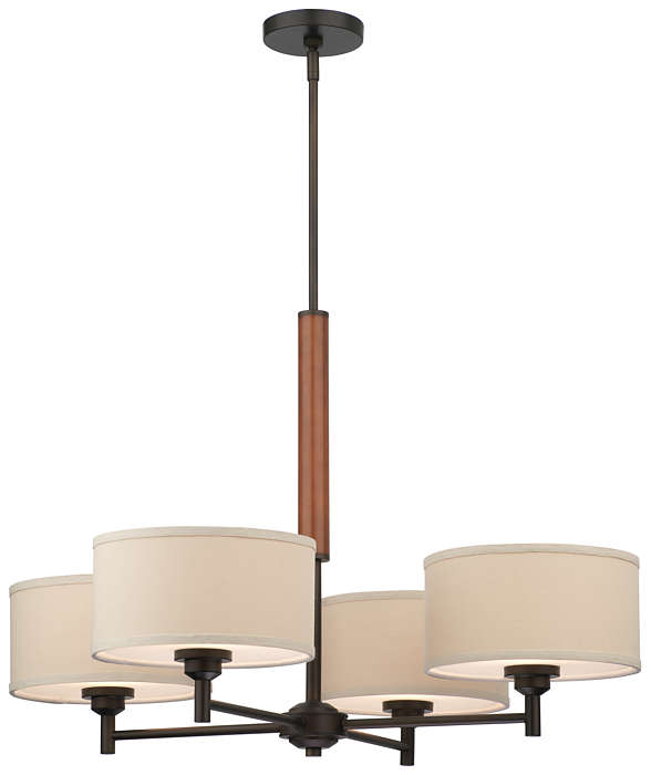 Embarcadero 4-light Chandelier, Sorrel Bronze