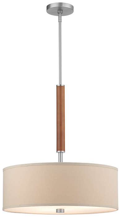 Embarcadero 3-light Pendant in Satin Nickel finish