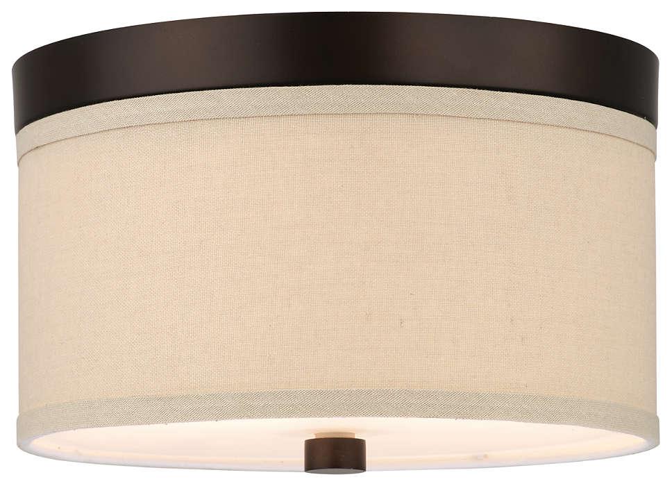 Embarcadero 2-light Ceiling, Sorrel Bronze finish
