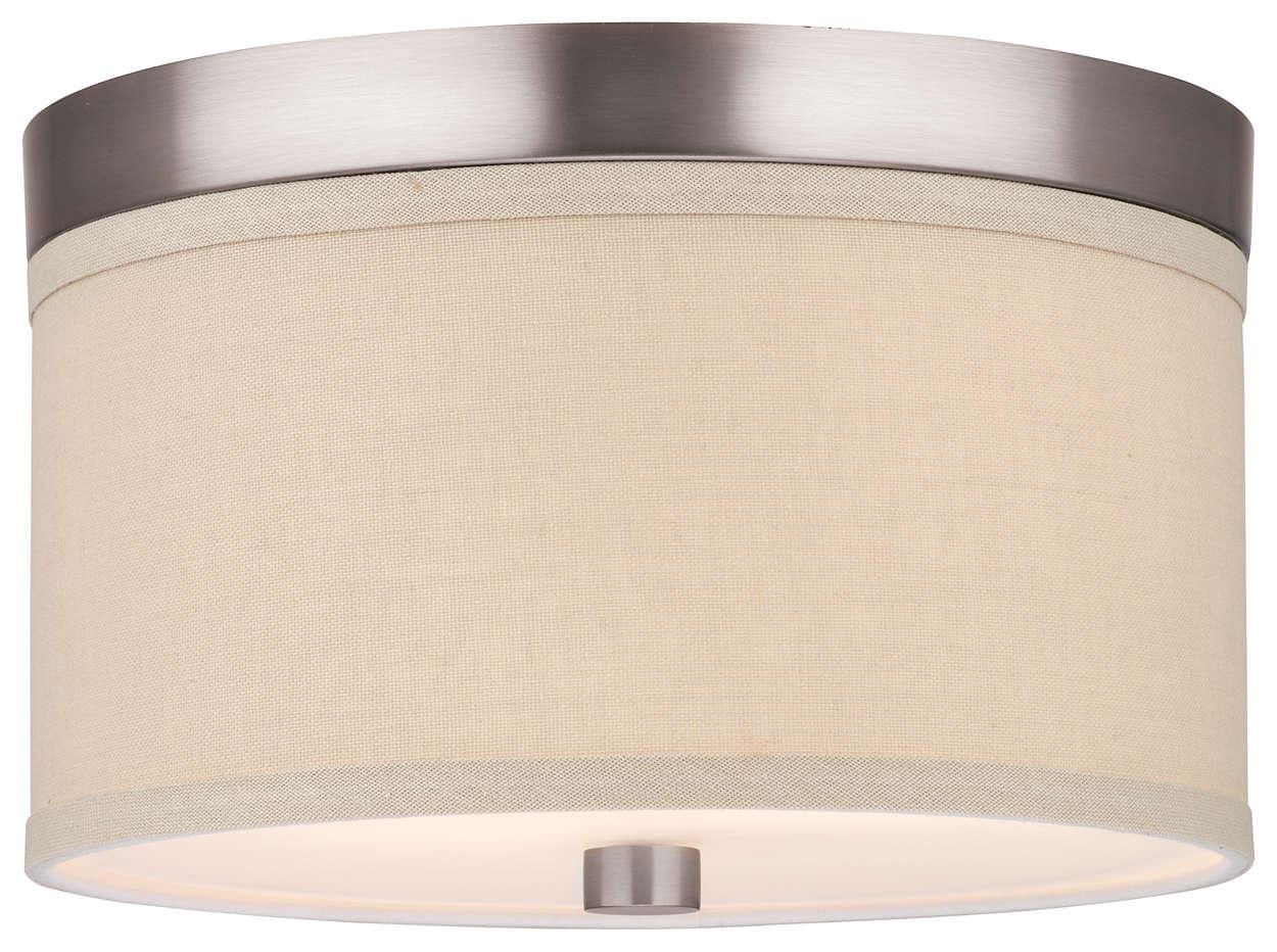 Embarcadero 2-light Ceiling in Satin Nickel finish