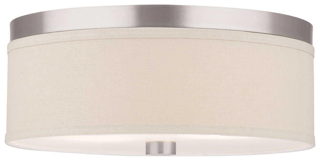 Embarcadero 2-light Ceiling in Satin Nickel finish