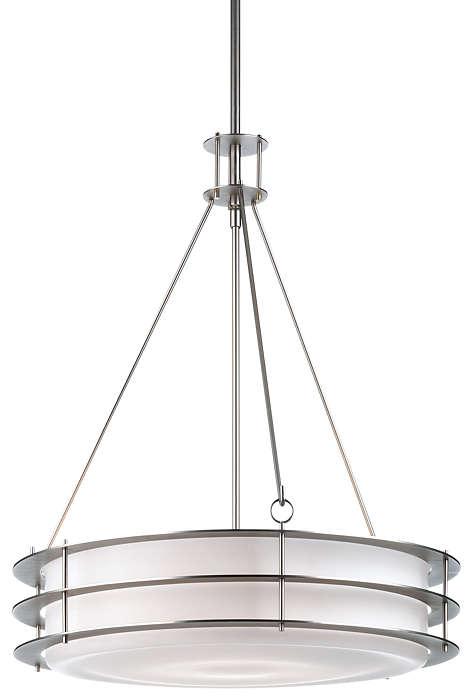 Hollywood Hills 3-light Pendant, Metallic Silver