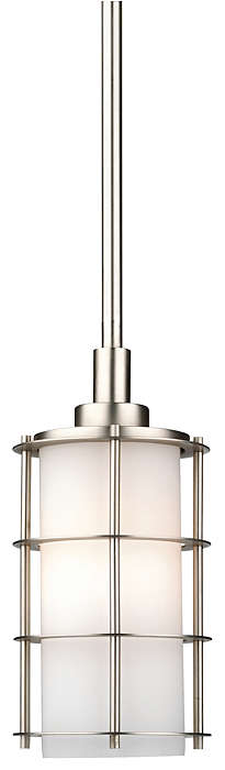 Hollywood Hills 1-light Pendant, Metallic Silver