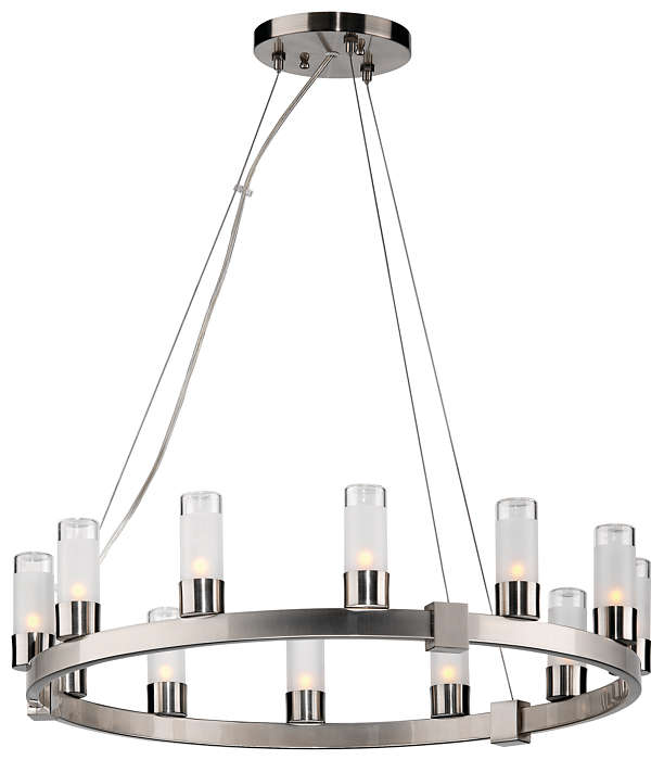 Revolution 12-light Chandelier, Satin Nickel