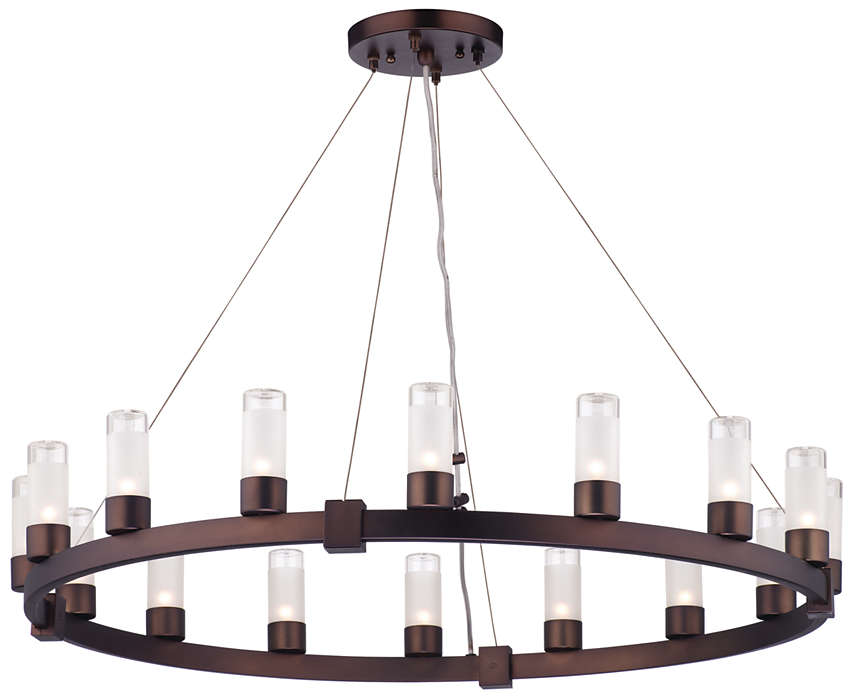 Revolution 16-light Chandelier, Merlot Bronze