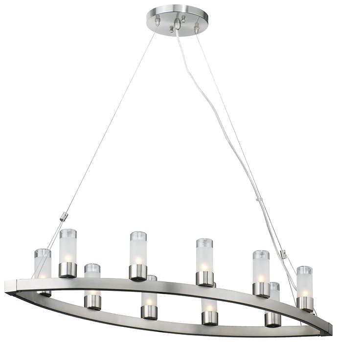 Revolution 10-light Chandelier, Satin Nickel