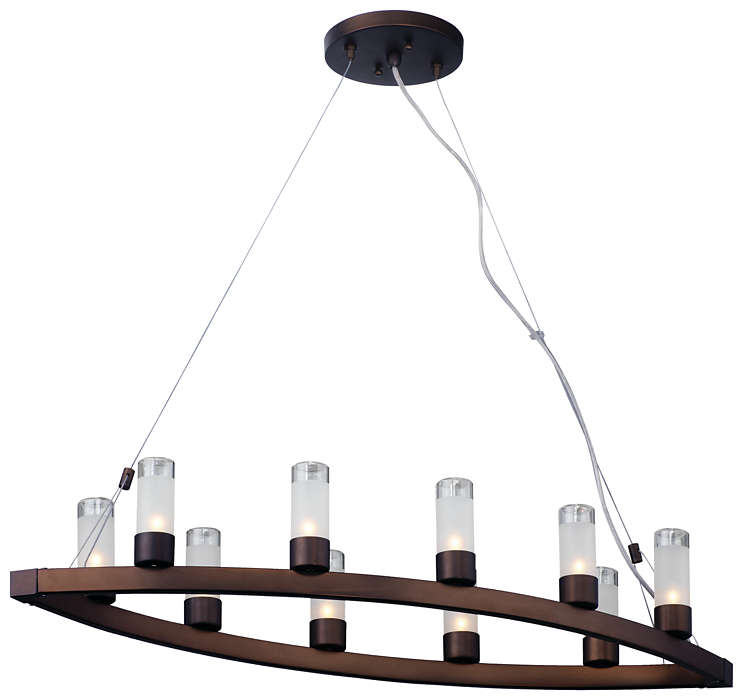 Revolution 10-light Chandelier, Merlot Bronze