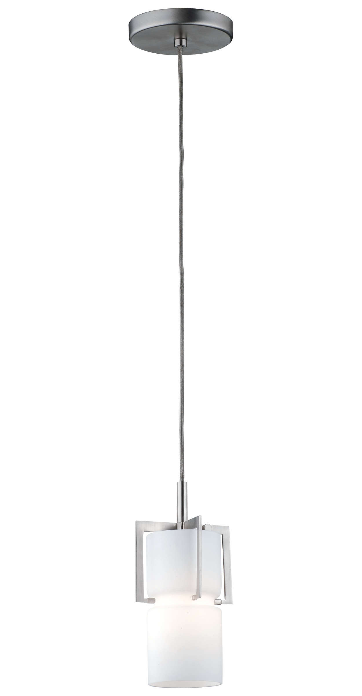Weston 1-light Pendant in Satin Nickel finish