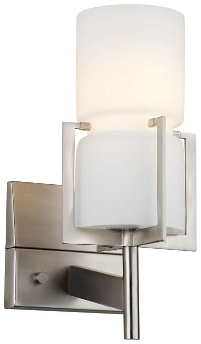 Weston 1-light Wall in Satin Nickel finish