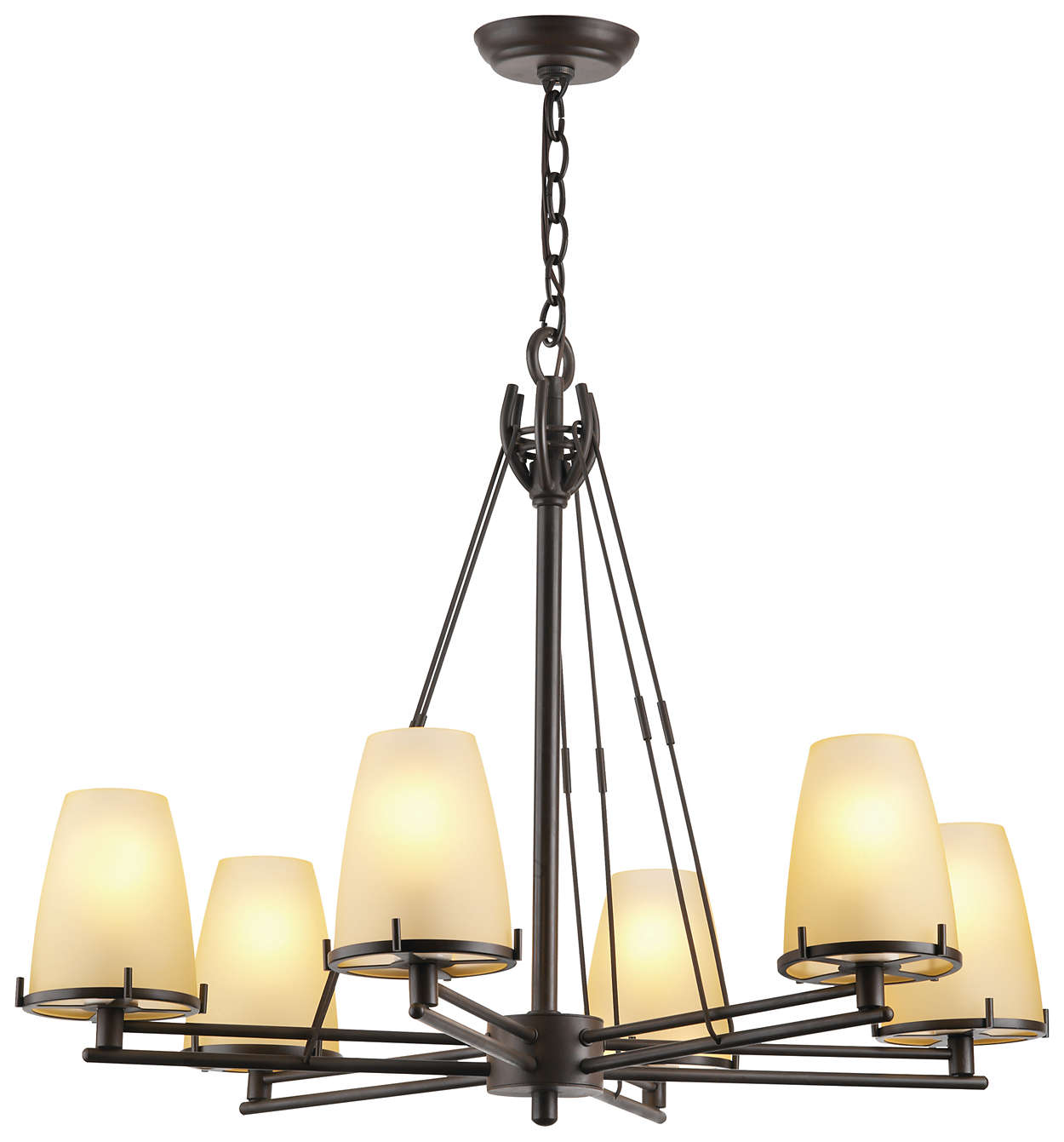 Kellar's Forge 6-light Chandelier, Deep Bronze