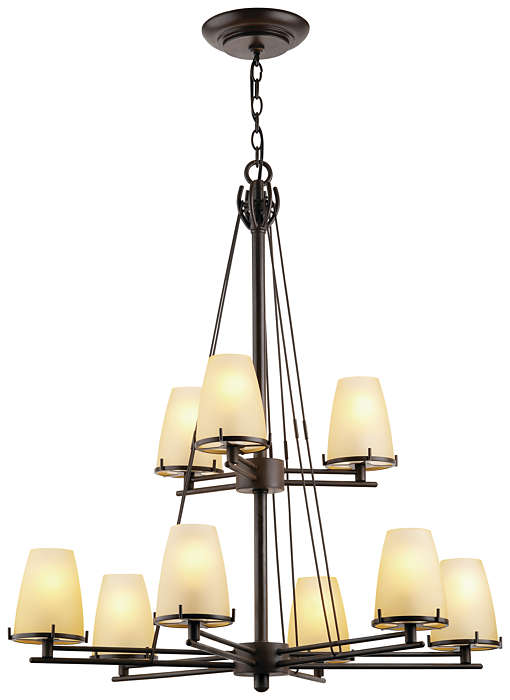 Kellar's Forge 9-light Chandelier, Deep Bronze
