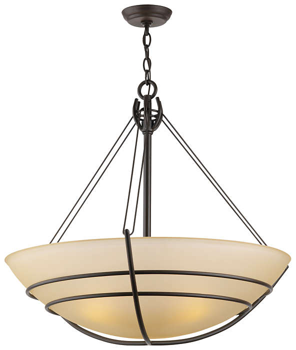 Kellar's Forge 3-light Pendant, Deep Bronze finish