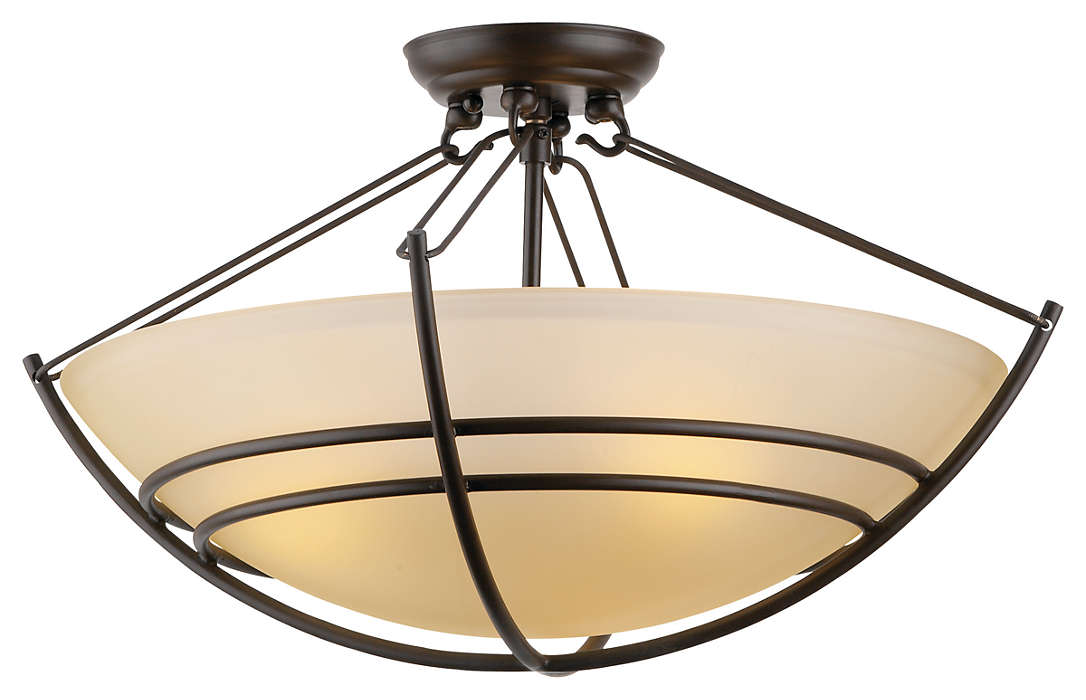 Kellar's Forge 3-light Ceiling, Deep Bronze finish