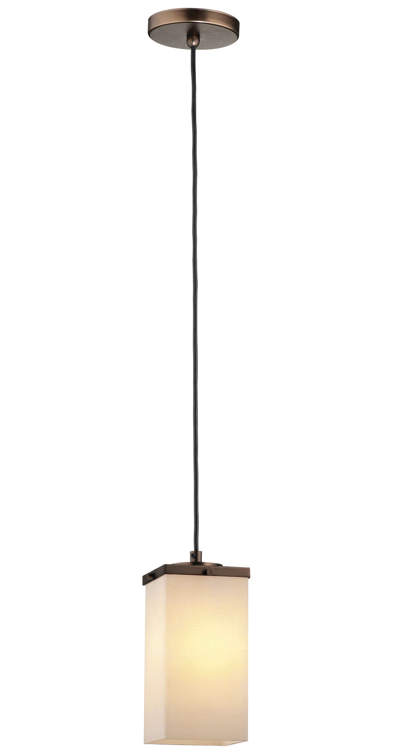 Casa 1-light Pendant in Merlot Bronze finish
