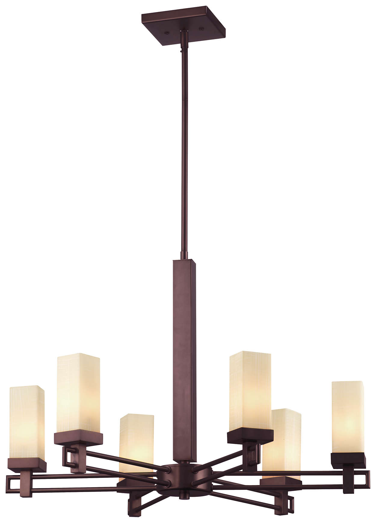 Casa 6-light Chandelier in Merlot Bronze finish