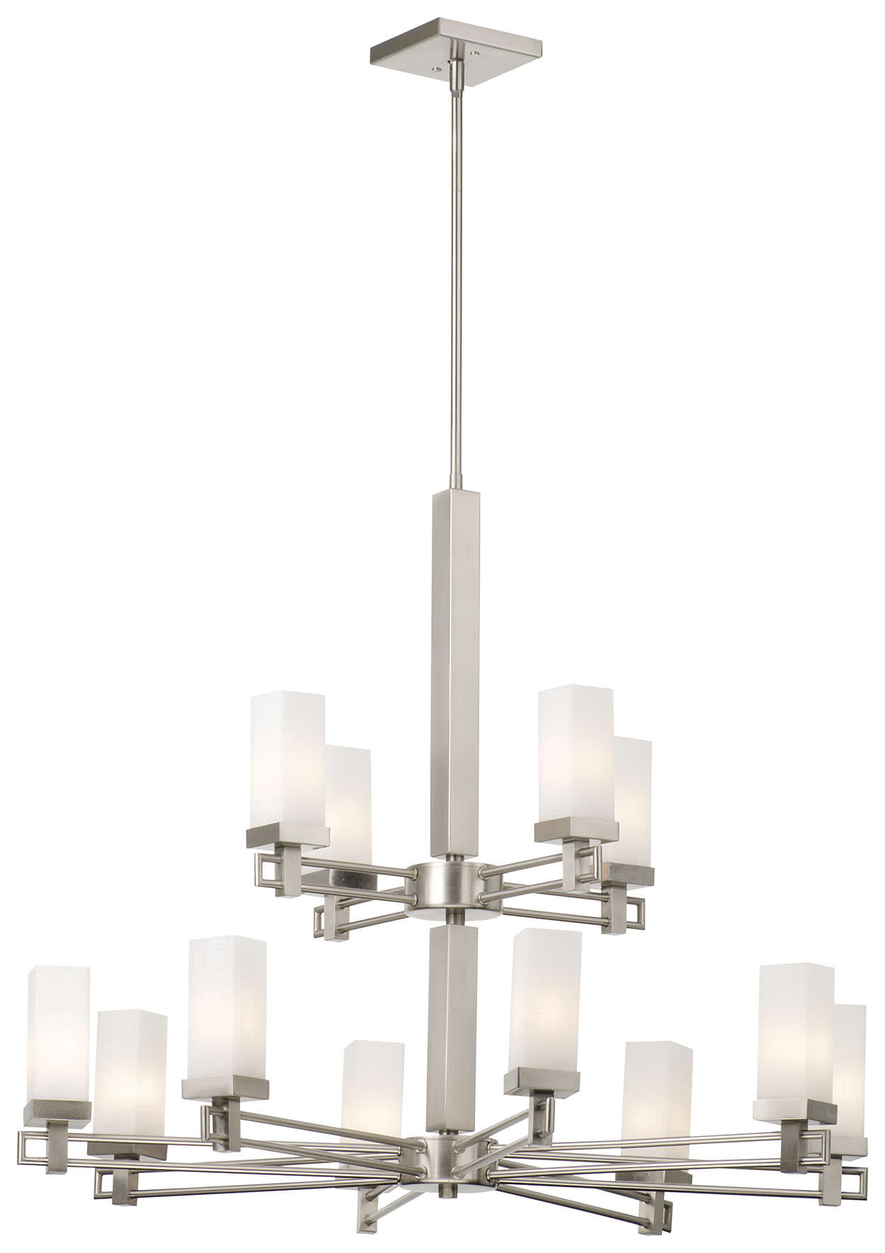 Casa 12-light Chandelier in Satin Nickel finish