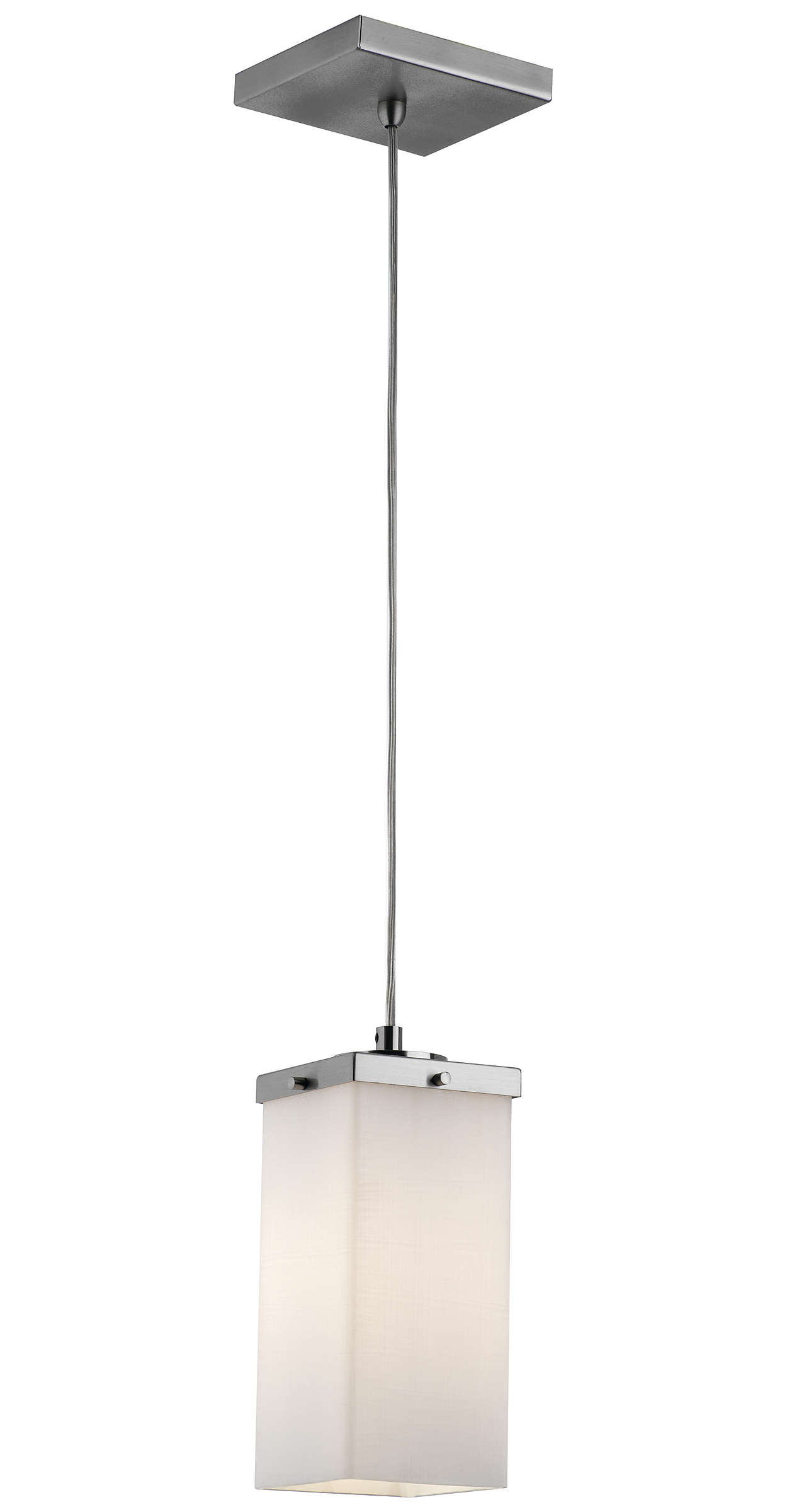Casa 1-light Pendant in Satin Nickel finish