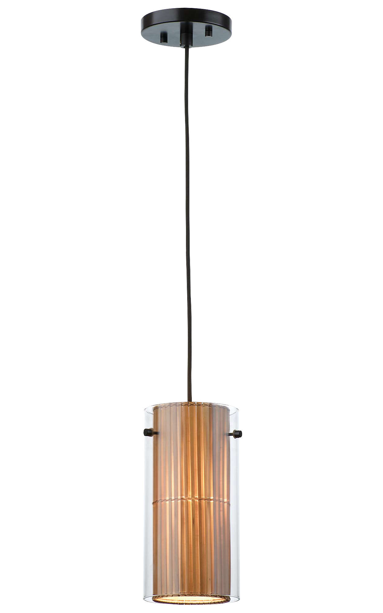 Hanalei Bay 1-light Pendant, Merlot Bronze finish