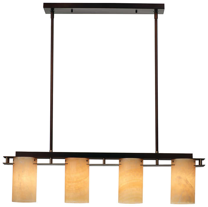 Ingo 4-light Pendant in Merlot Bronze finish