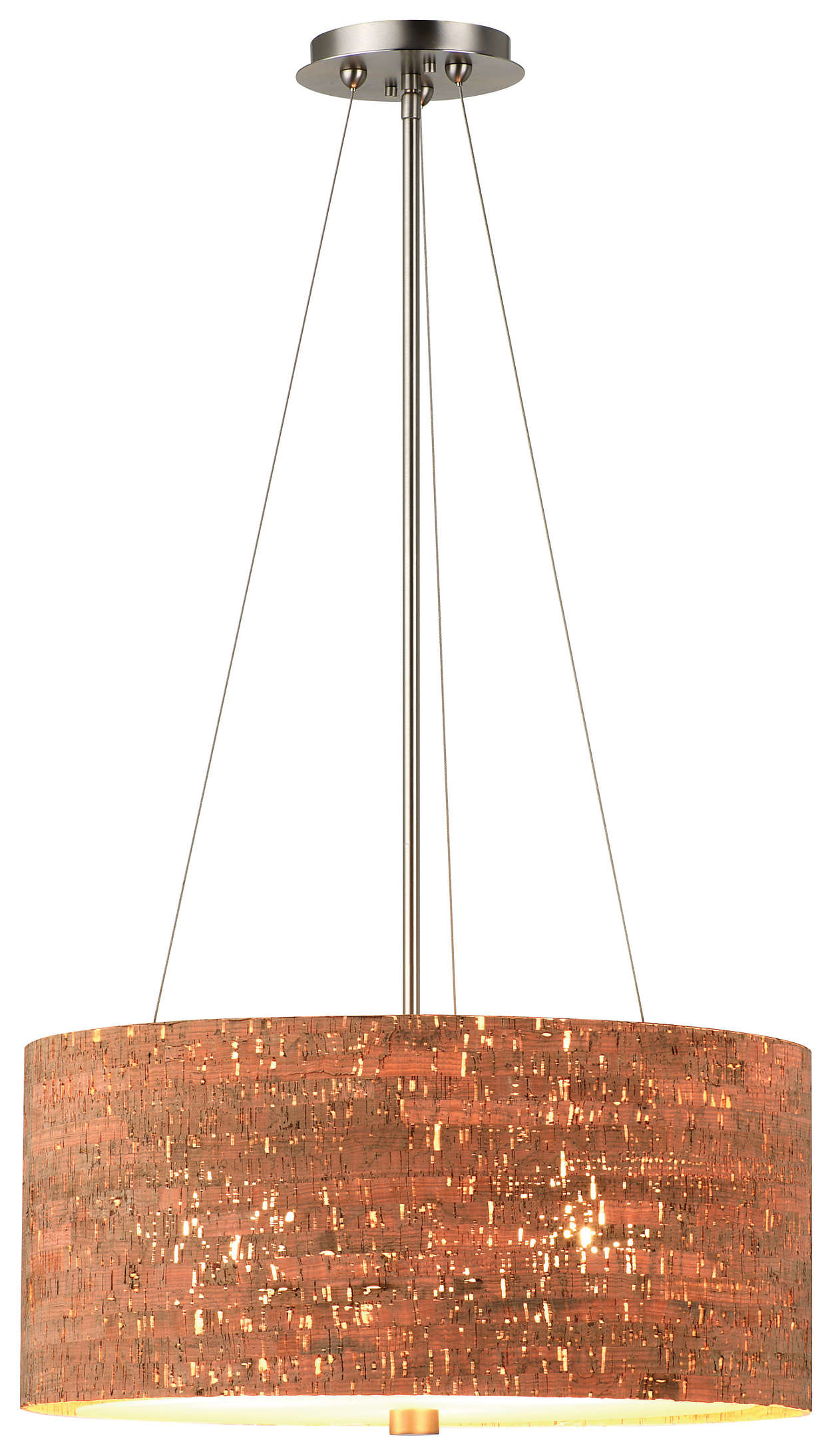 Alentejo 3-light Pendant in Satin Nickel finish