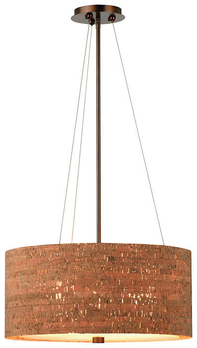 Alentejo 3-light Pendant in Merlot Bronze finish