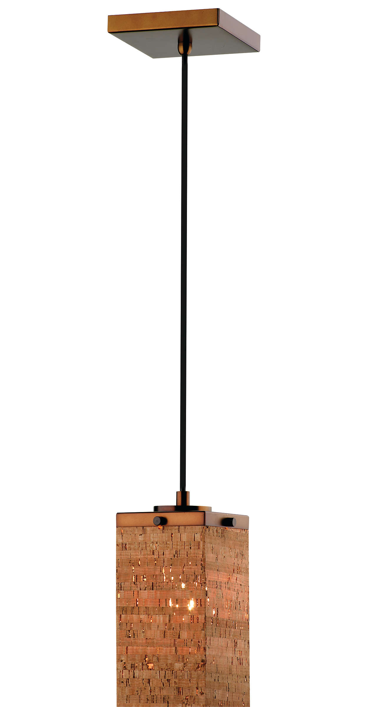 Alentejo 1-light Pendant in Merlot Bronze finish