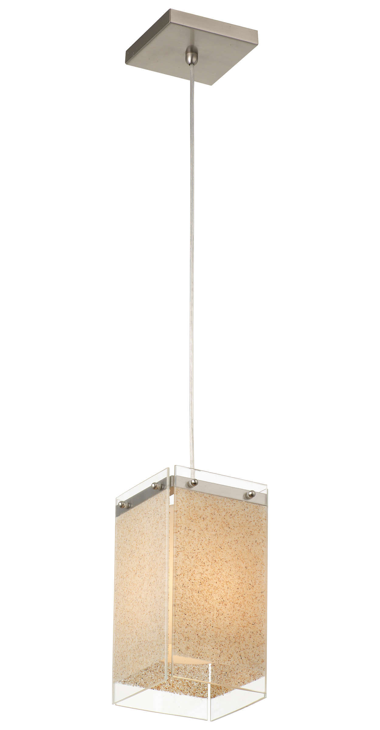 Pacifica 1-light Pendant in Satin Nickel finish