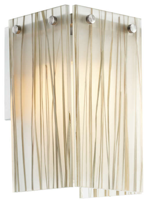Ecoframe 1-light Wall in Satin Nickel finish