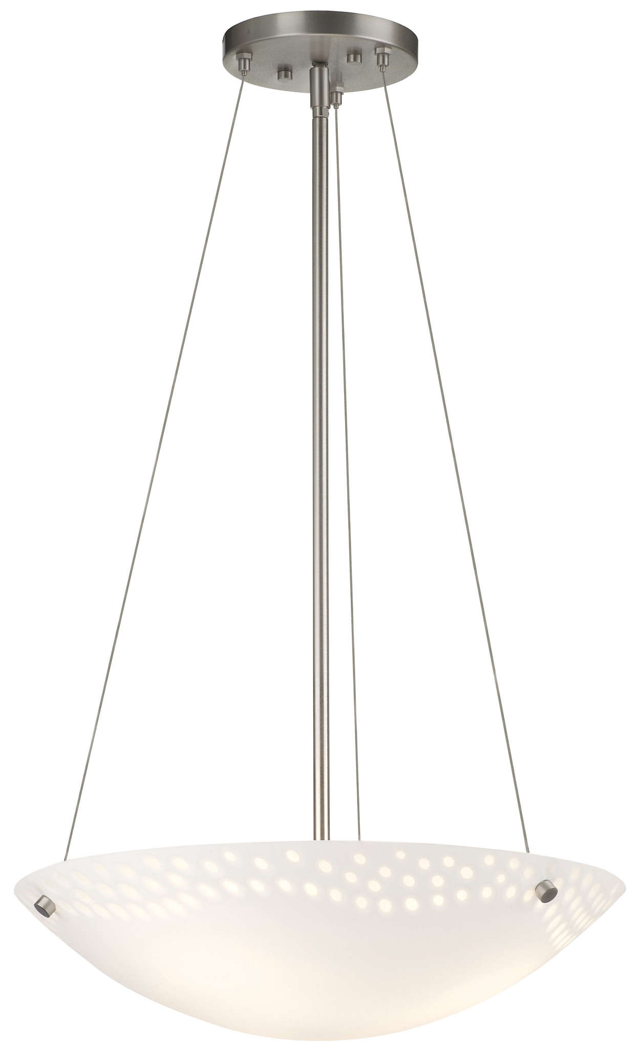 Daybreak 3-light Pendant in Satin Nickel finish