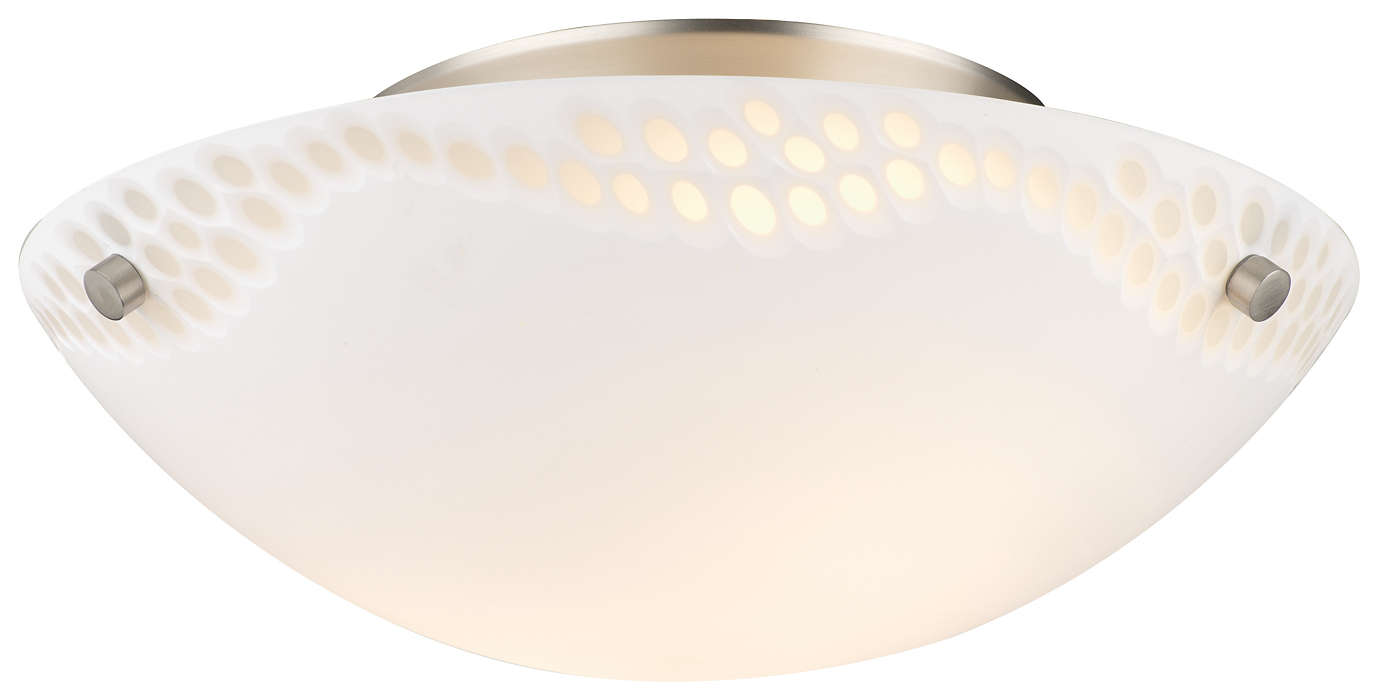 Daybreak 2-light Ceiling in Satin Nickel finish
