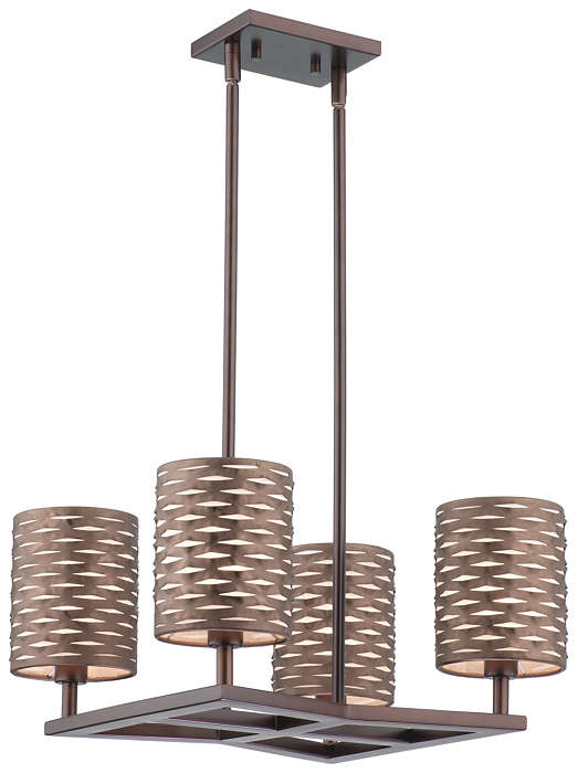 Cabaret 4-light Chandelier in Merlot Bronze finish