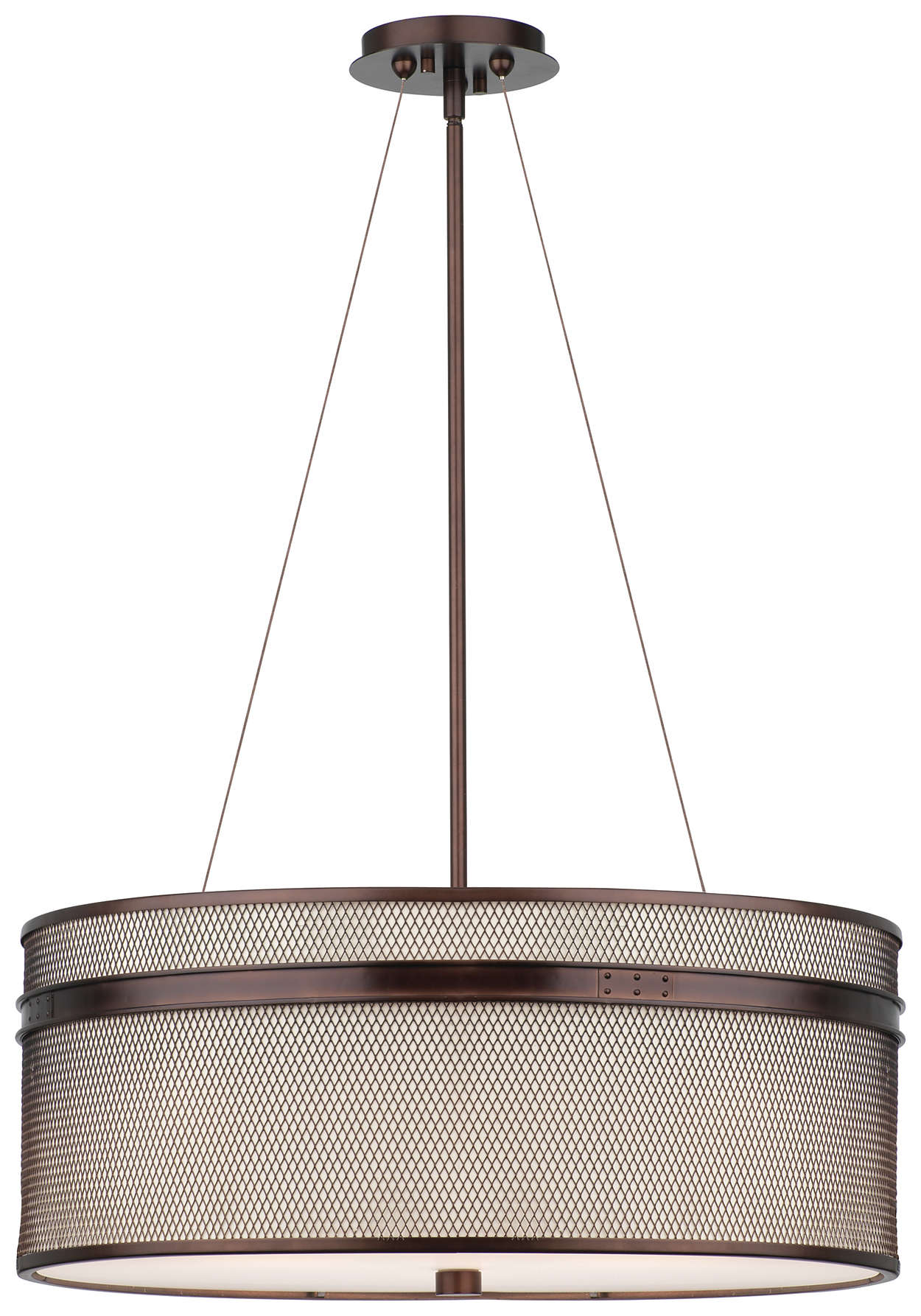 I Beam 3-light Pendant in Merlot Bronze finish