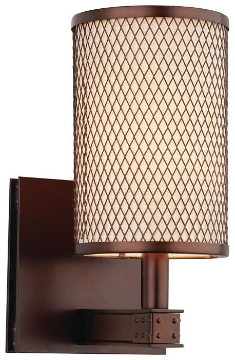 I Beam 1-light Bath in Merlot Bronze finish
