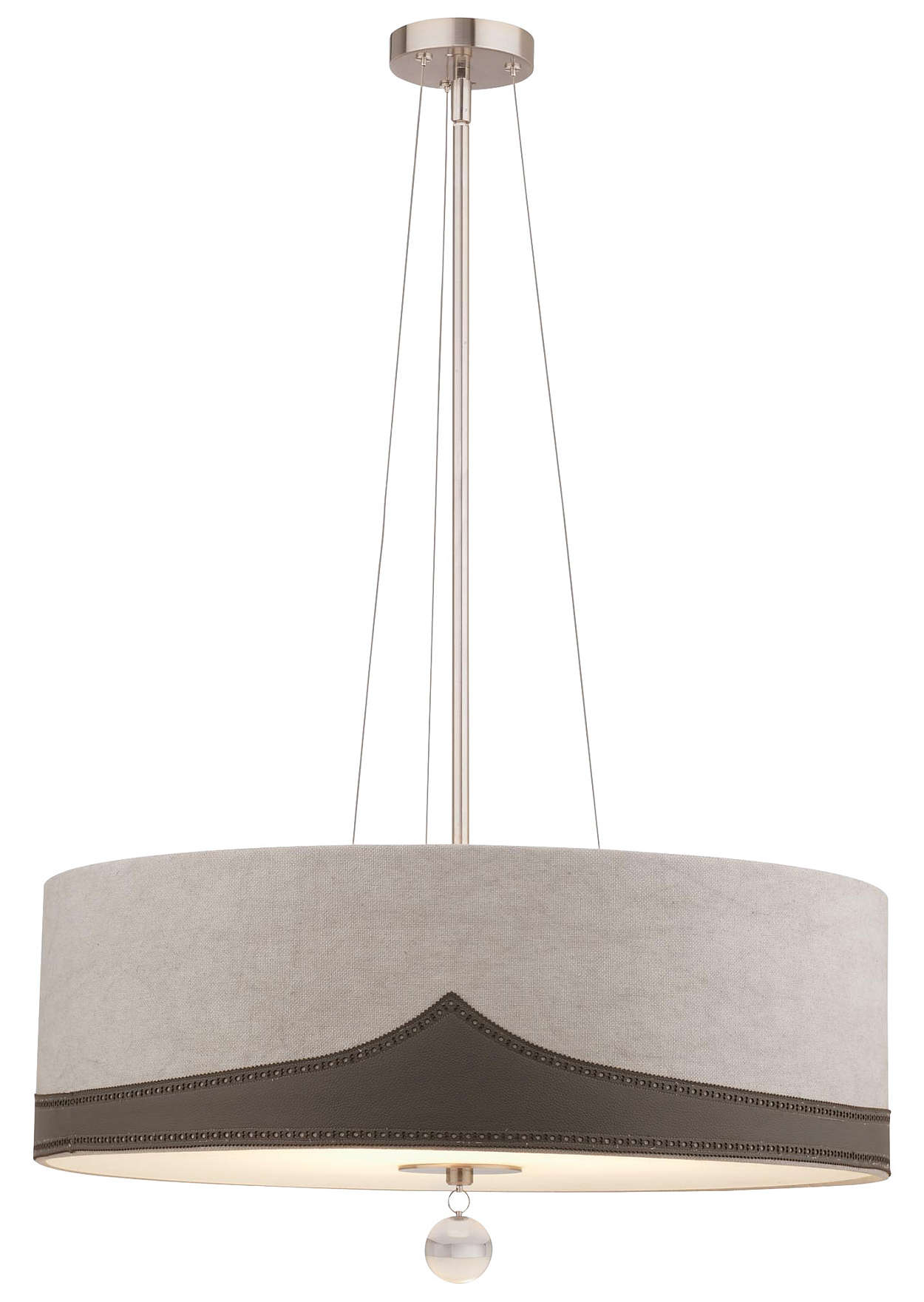 Wing Tip 3-light Pendant in Satin Nickel finish