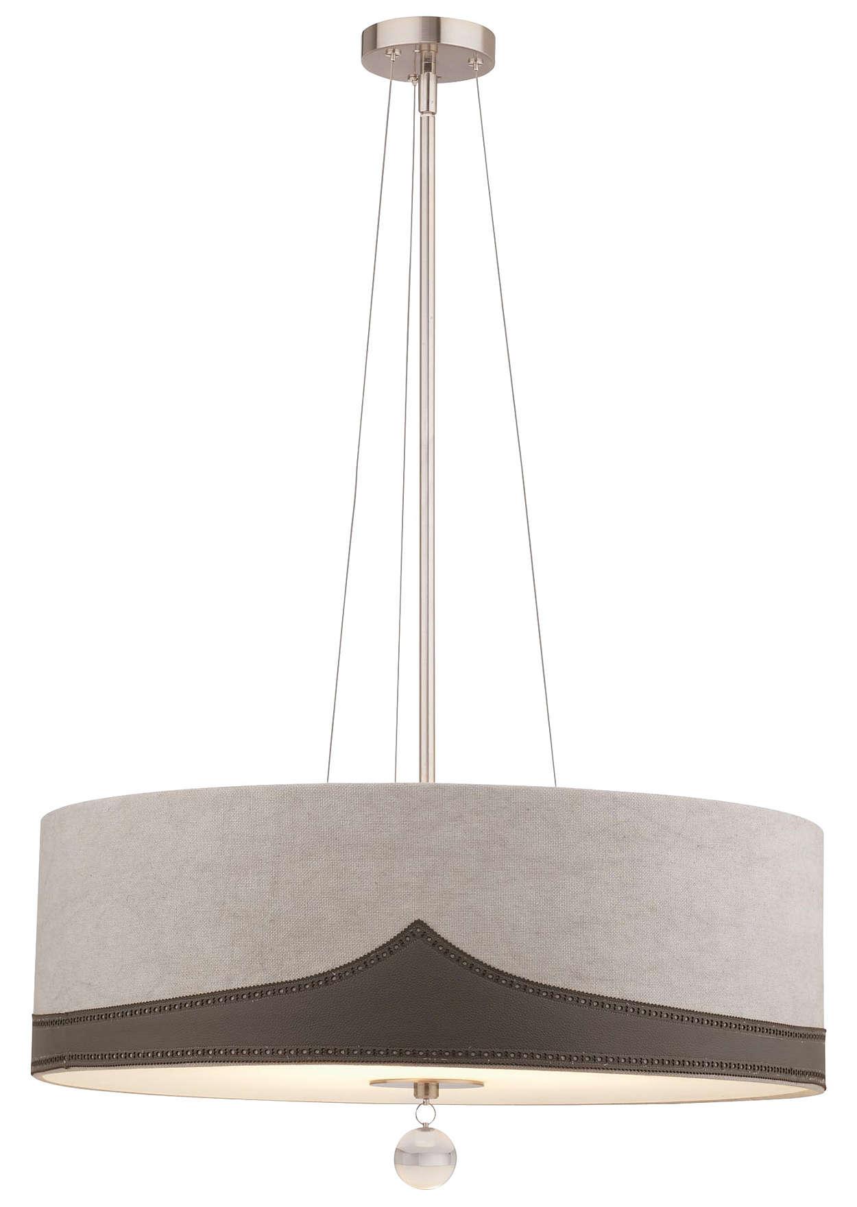 Wing Tip 3-light Pendant in Satin Nickel finish