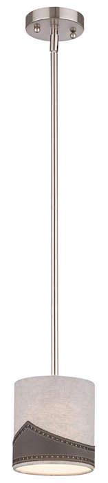 Wing Tip 1-light Pendant in Satin Nickel finish