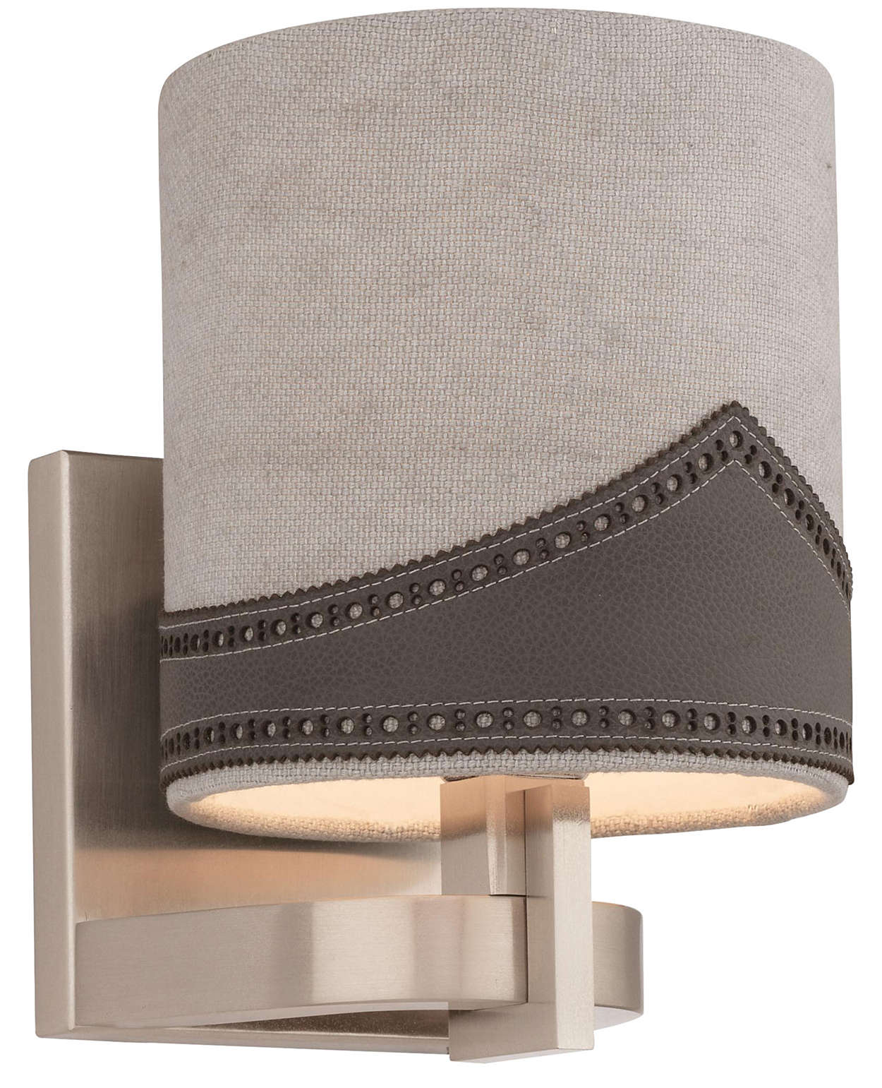 Wing Tip 1-light Wall in Satin Nickel finish
