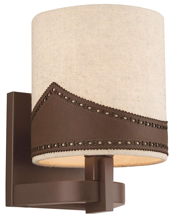 Wing Tip 1-light Wall in Deep Bronze finish
