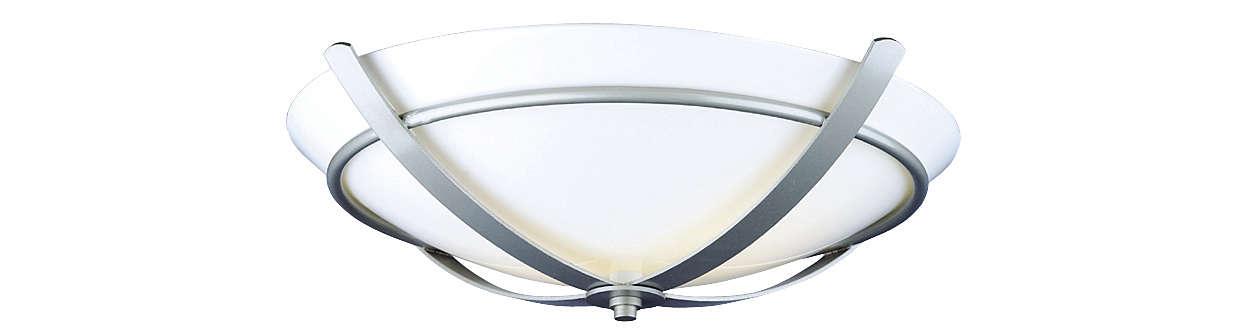 Regency 2-light Ceiling in Glacier Silver finish