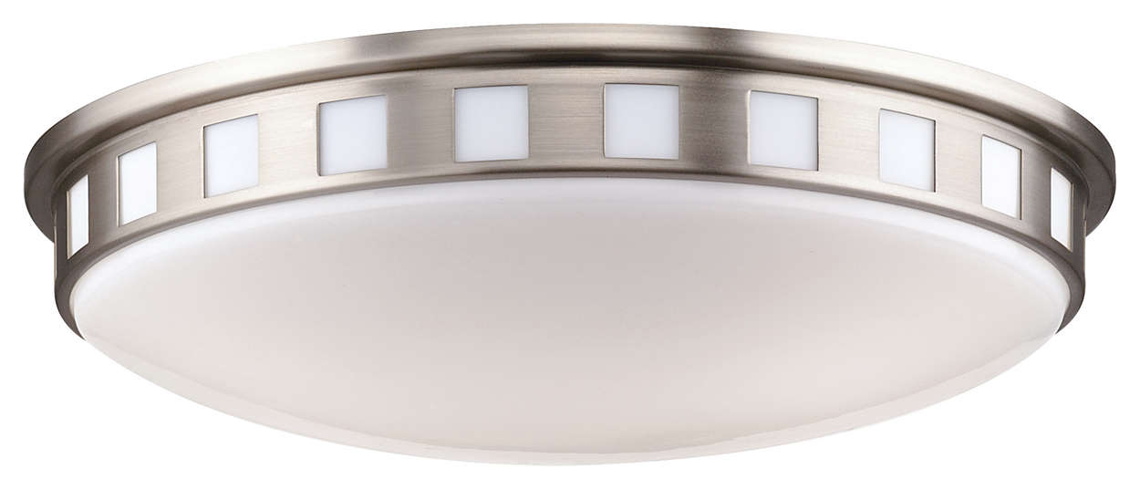 Windows 2-light Ceiling in Satin Nickel finish