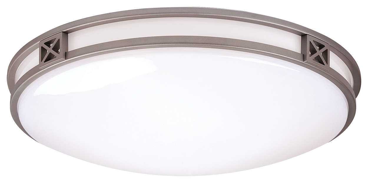 Crossroads 2-light Ceiling, Glacier Silver finish