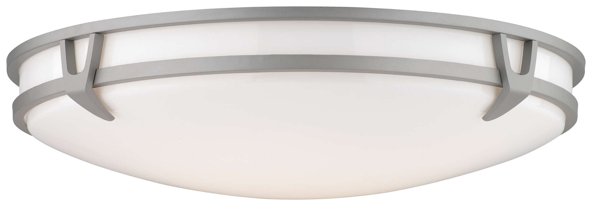 Plaza 2-light Ceiling in Glacier Silver finish